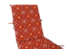 Red Damask Chaise Lounge