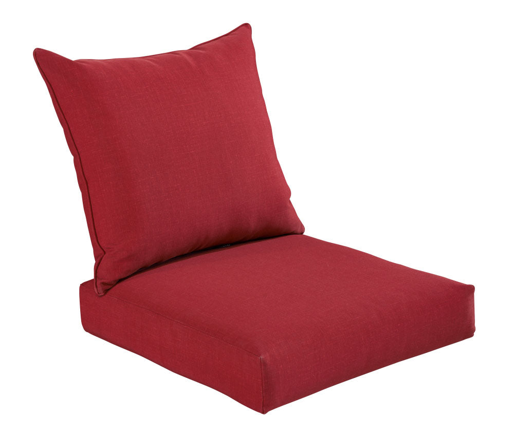 Rust Red Deep Seat Cushion Set