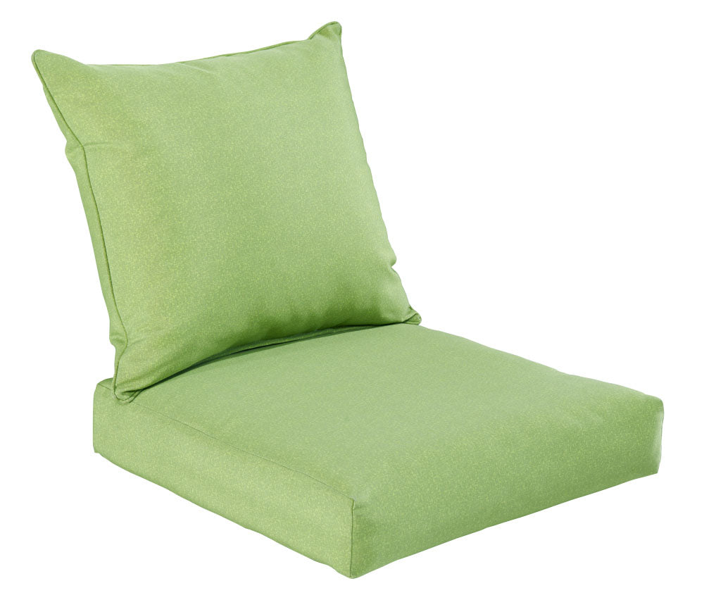 Green Piebald Deep Seat Cushion Set