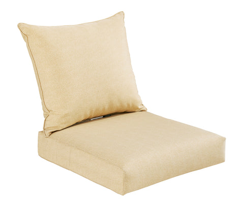 Cream Deep Seat Cushion Set