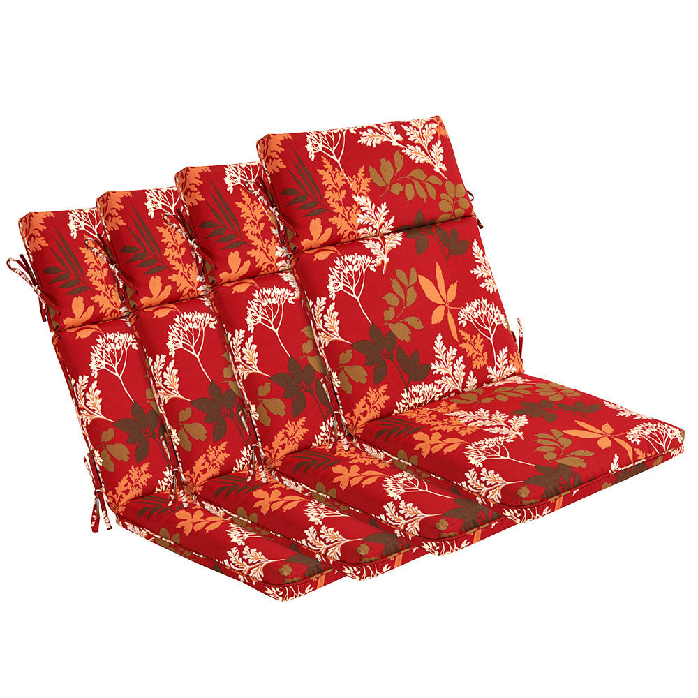 Bossima Red/Brown Floral High Back Lounger