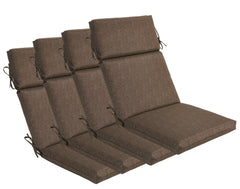 Coffee High Back Lounger (Set of 4)