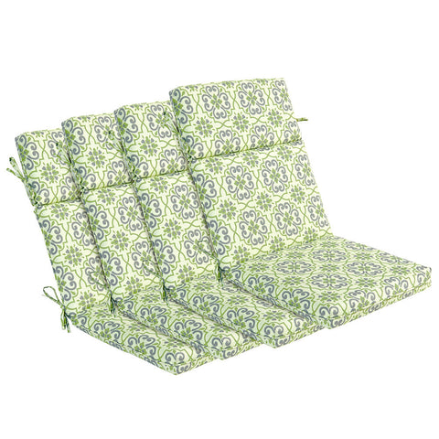 Bossima Green/Grey Damask High Back Lounger