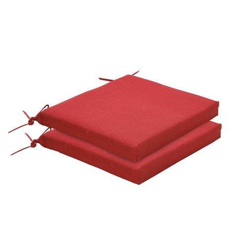 Bossima Rust Red Chair Cushion Set