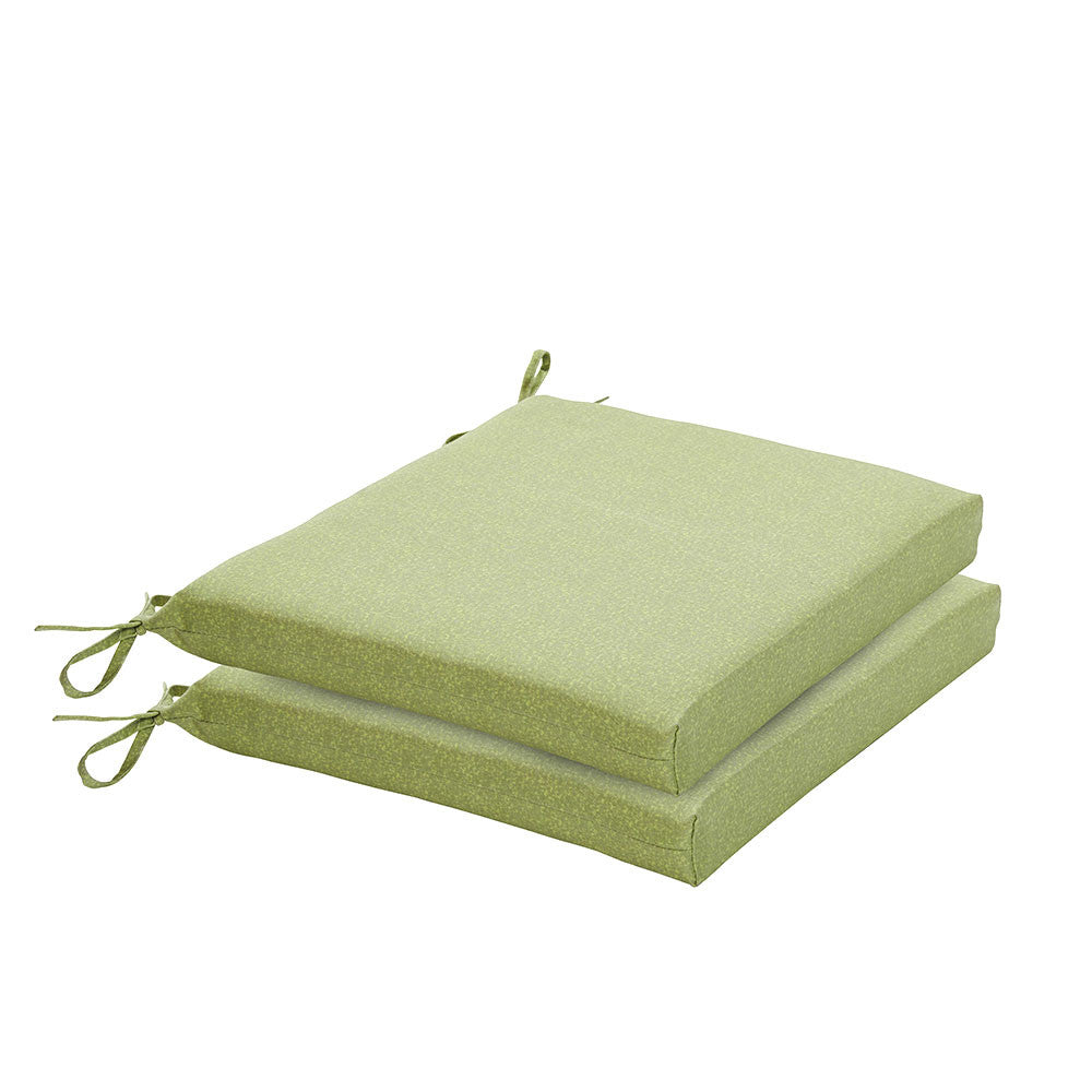 Bossima Green Piebald Chair Cushion Set