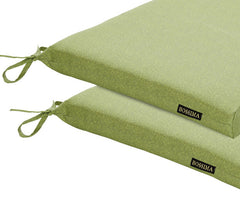 Green Piebald Patio Seat Pad (Set of 2)