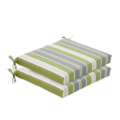 Bossima Green/Grey Striped Chair Cushion Set