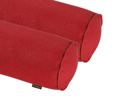Rust Red Round Bolster Pillow (Set of 2)