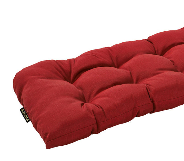 Rust Red Wicker Loveseat Bench Cushion Bossima Outdoor