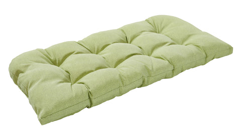 Green Piebald Wicker Loveseat Cushion