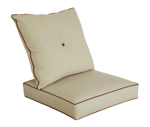 Light Khaki Deep Seat Cushion Set
