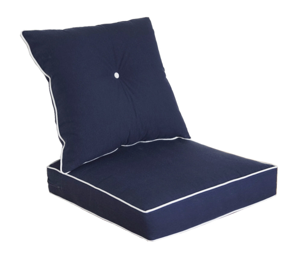 Navy Blue Deep Seat Cushion Set