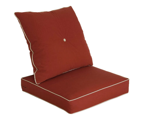 Brick Red Deep Seat Cushion Set