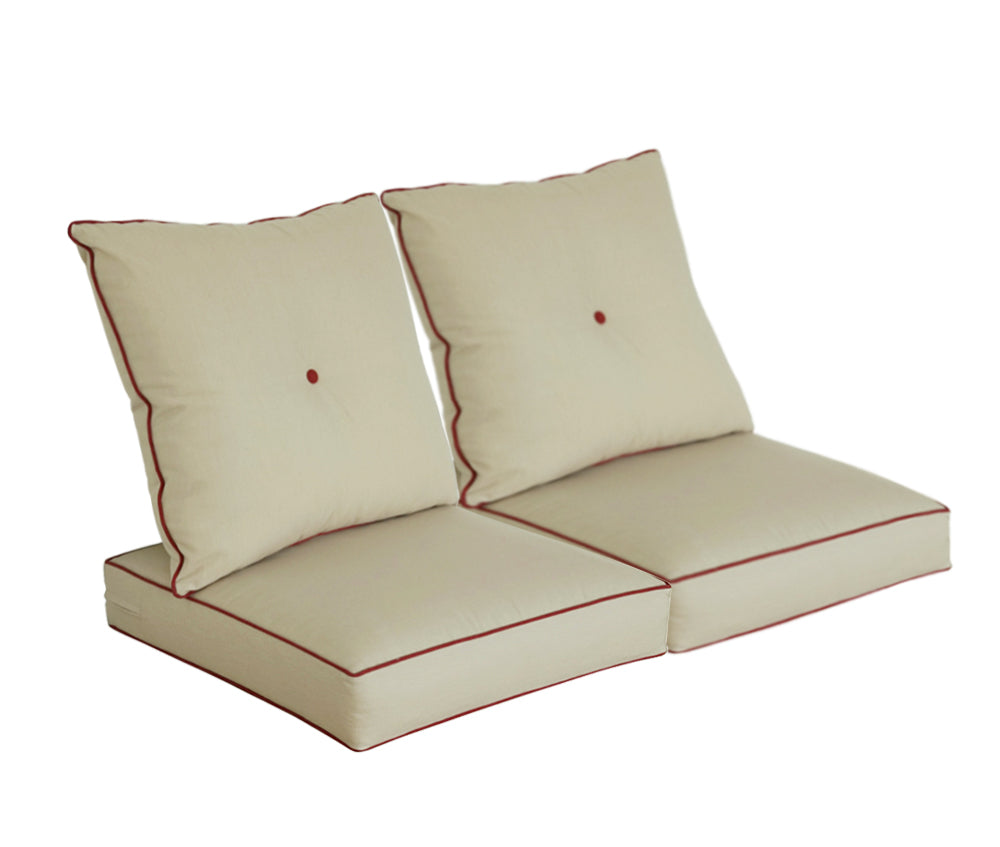 Light Khaki Deep Seat Cushion Set (Sets of 2)