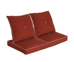 Brick Red Deep Seat Cushion Set (Sets of 2)