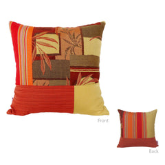 Bossima Red Square Mosaic Pillow
