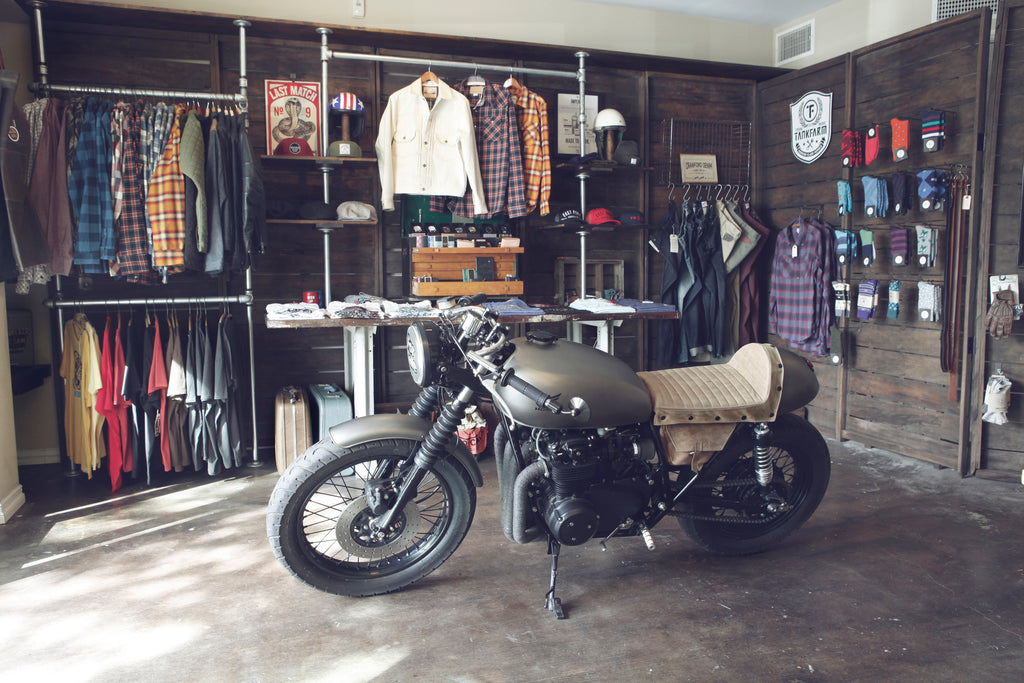 East Fork Supply Co. Shop with Cafe Racer Motorcycle