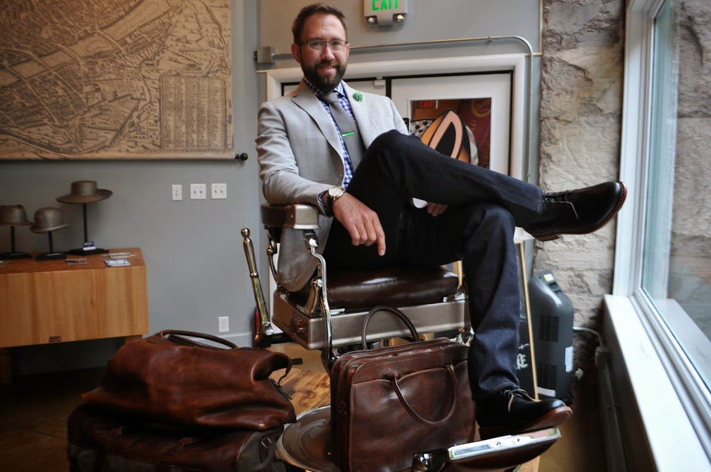 Dapper Gents Grooming Lounge owner Brent Oberlink