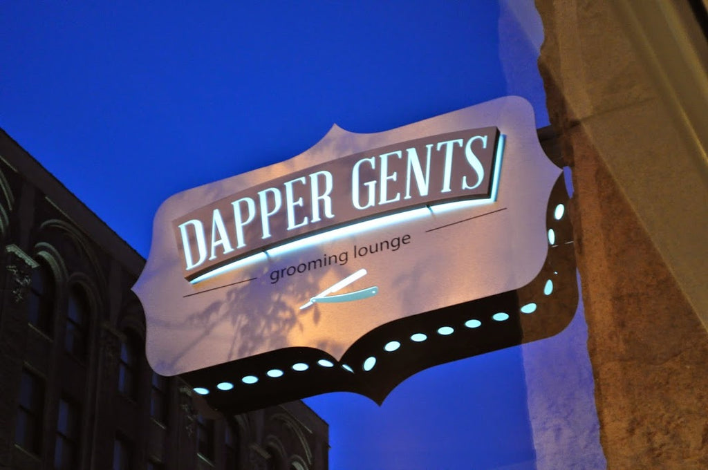 Dapper Gents Grooming Lounge Sign