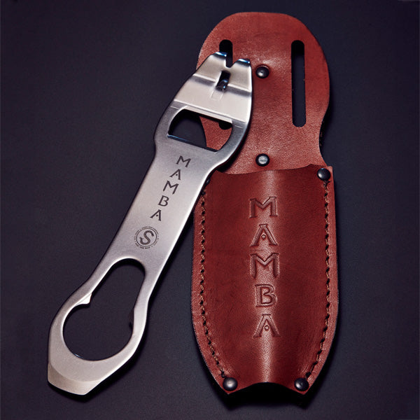 The Mamba With Brown Leather Sheath