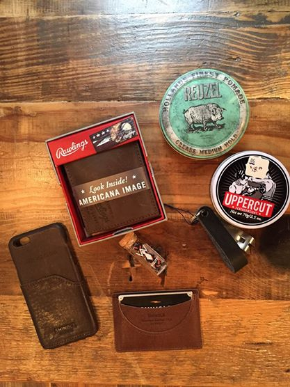 Dapper Gents Men's Gifts Featuring The Original Snake Bite Bottle Opener in Black Leather