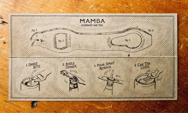 Personalized Mamba: Bartending Tool and Bottle Opener