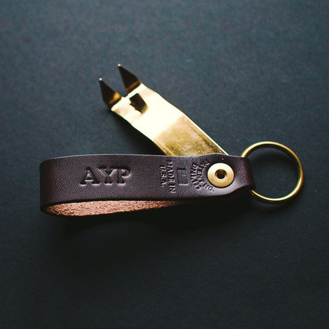 Personalized Anniversary Edition: Stout and Brass Custom Snake Bite Bottle Opener