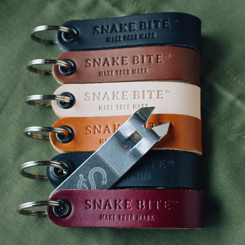 Six Pack Snake Bite Bottle Openers - You Choose Colors
