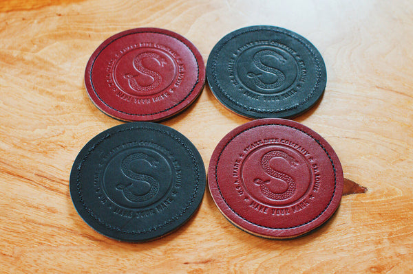 Leather Coasters Set Of Four