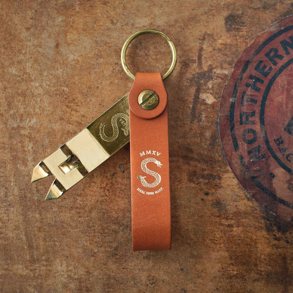 Anniversary Edition – Brass and Barley Snake Bite Keychain Bottle Opener