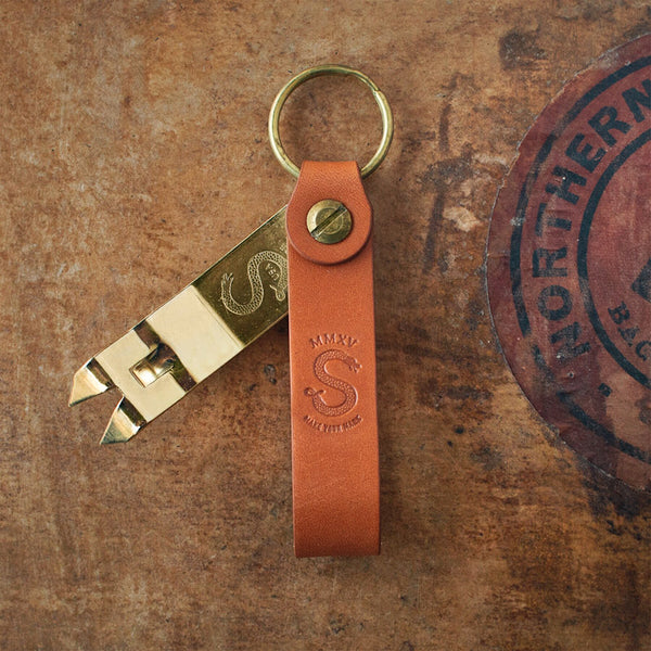 LIMITED PRE-SALE: Anniversary Edition – Brass and Barley Snake Bite Keychain Bottle Opener