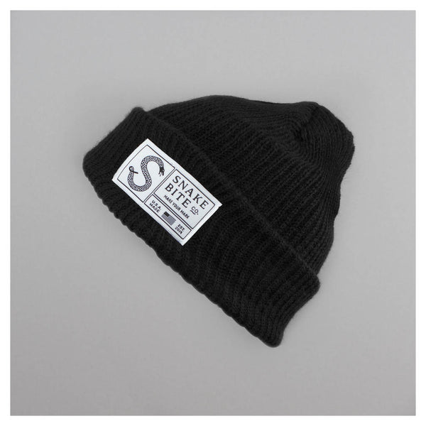 Snake Bite beanie knit cap (black)