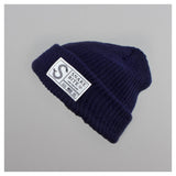 Snake Bite beanie knit cap (navy blue)