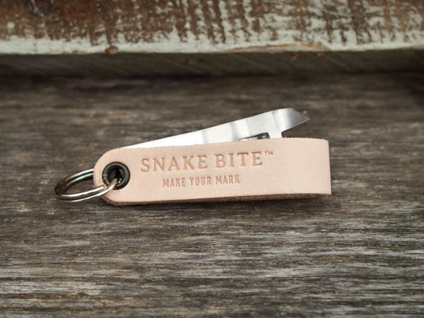 Key ring with bottle opener (natural off-white)