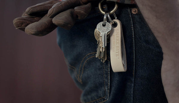 Key ring with bottle opener (natural light tan)