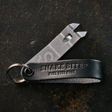 Keychain bottle opener in black