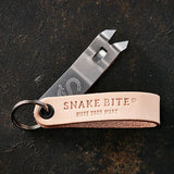 Keychain bottle opener in natural leather