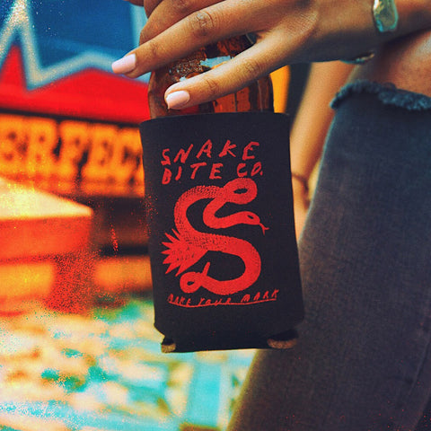 Tyler Gross x Snake Bite Black Coozie