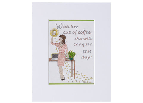 Cup of Coffee Matted Print
