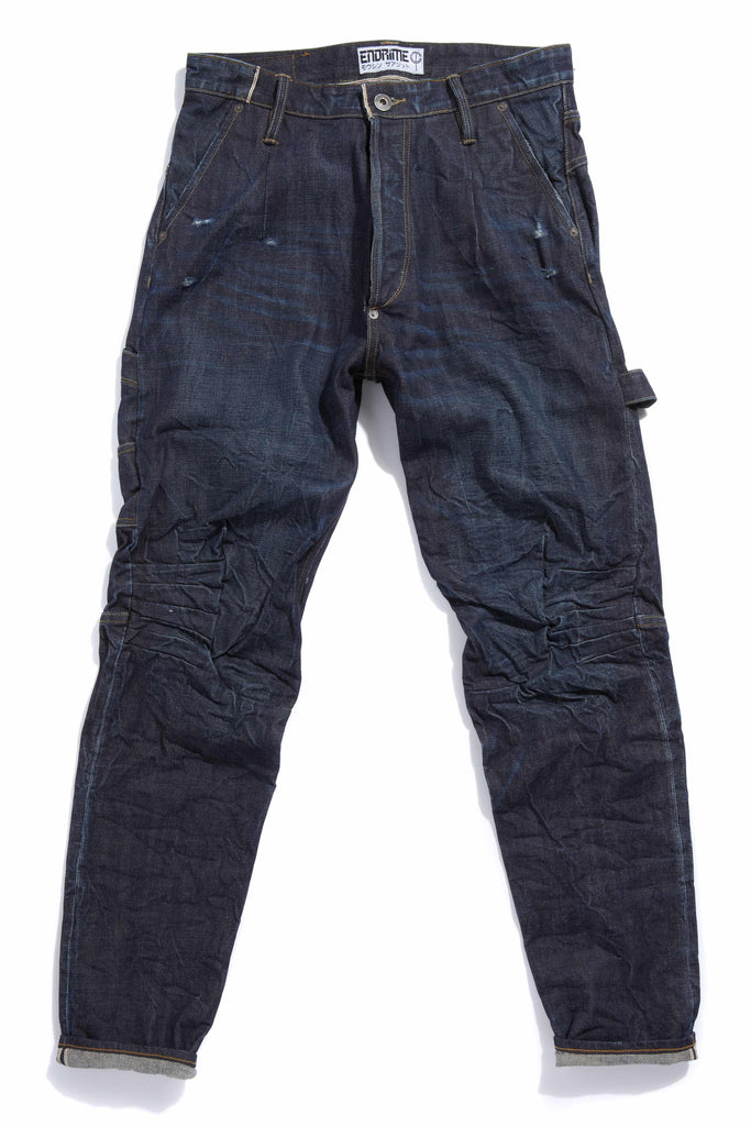 M2008KU01WIR-Ergonomic knee dart carpenter jean/worn in raw