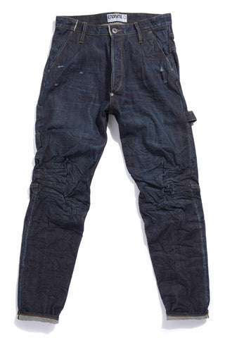 M2008KA01WIR-Ergonomic knee dart carpenter jean/worn in raw