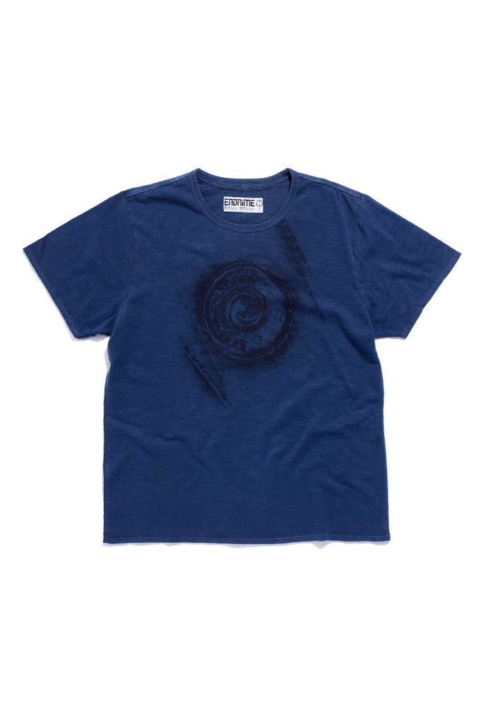 M5011GH01PID Navy -Graphic button tee