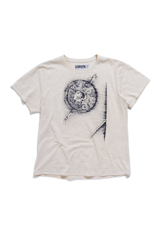 M5013GH01PID White-Graphic logo rivet tee