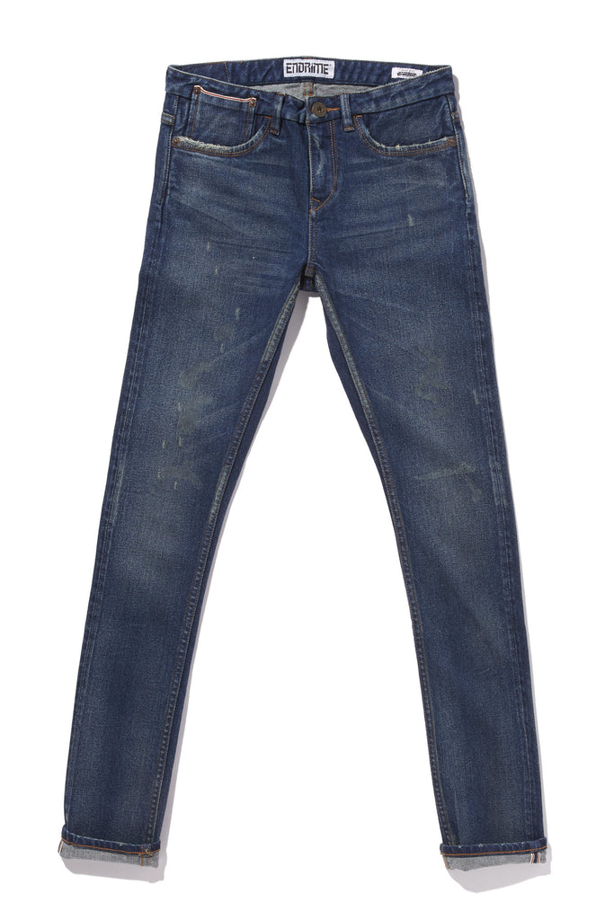 L1095KS04WIS-New skinny selvage jeans/winter solstice