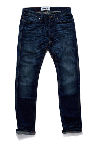 M1019KU02MNI-Core jean-felled seamed-no selvage/mid-night indigo