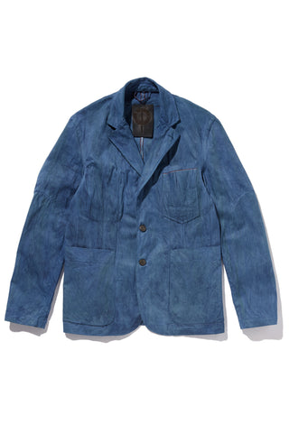 M4077KS01NID-Dart manipulation suit jacket/natural indigo dyed