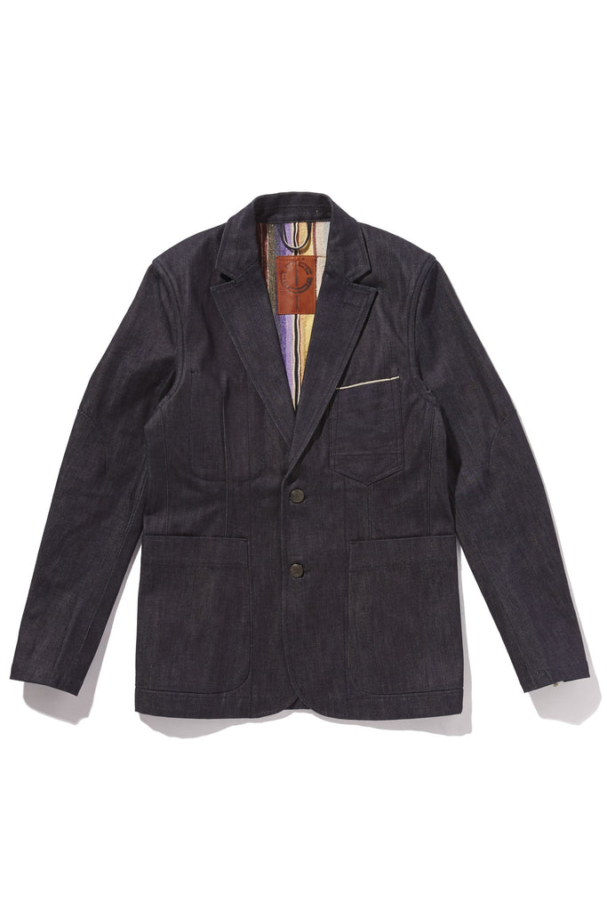 M4077LKU07RAW-Dart manipulation suit jacket with lined/raw