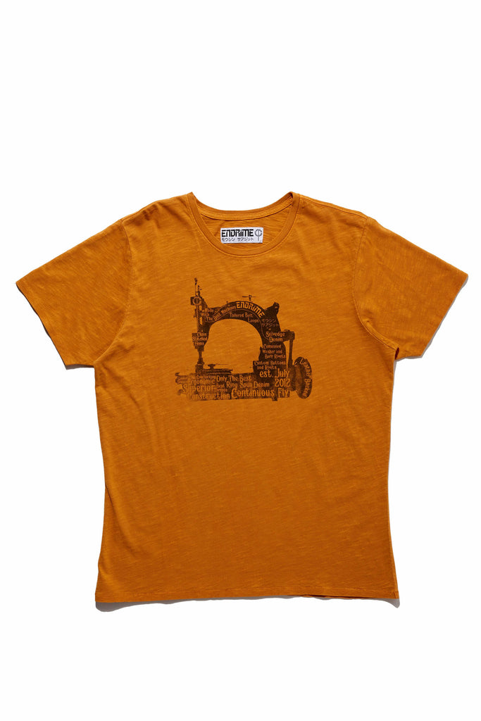 M5026GH01PID Vintage Orange-Graphic sewing machine tee