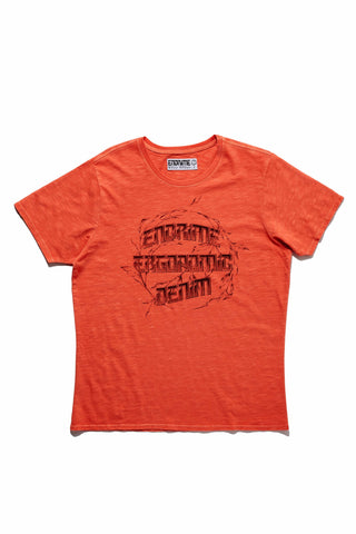 M5027GH01PID Vintage Red-Graphic ergonomic tee