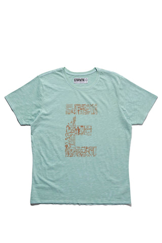 M5028GH01PID Vintage sea-Graphic 'E' component tee